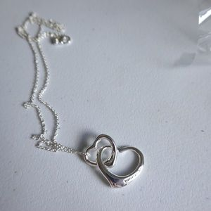 Tiffany & Co. heart necklace silver